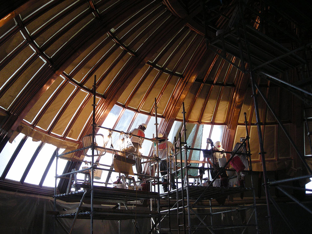 Capitol inner dome before restoration