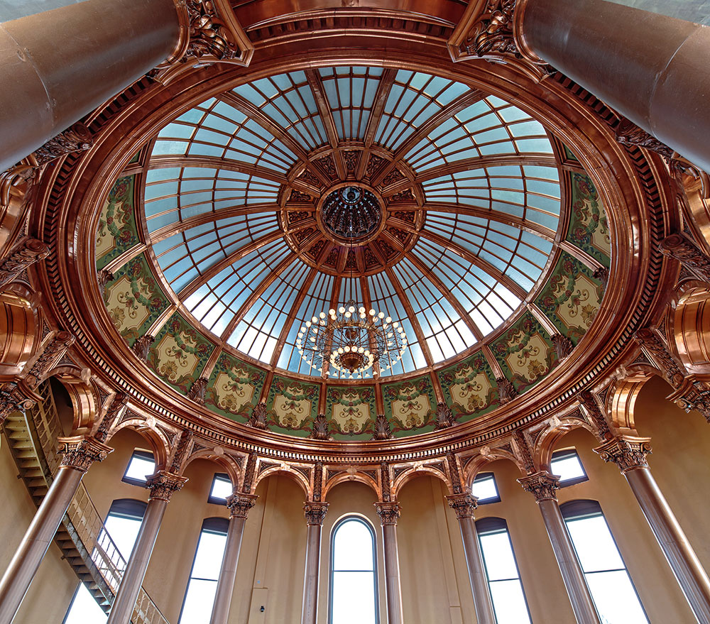 Capitol inner dome after restoration