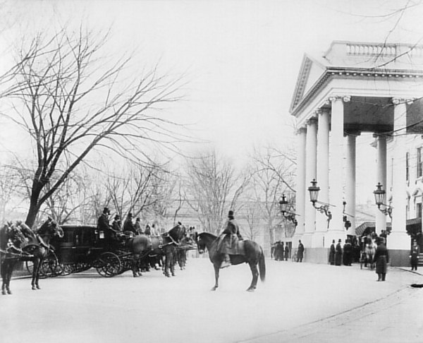 The White House Museum, 1889, North Portico. Photo Credit: Library of Congress
